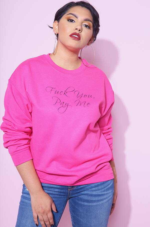 Cyber Pink Sweatshirt plus sizes
