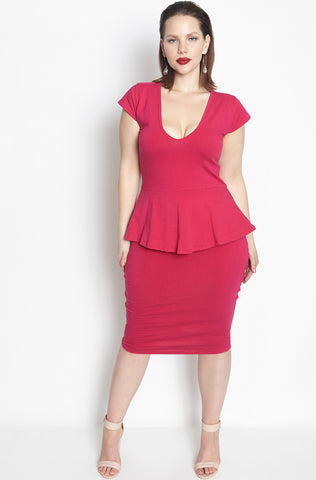 "Rebdolls ""Love Me the Same"" Cut-Out Midi Dress - FINAL SALE CLEARANCE"