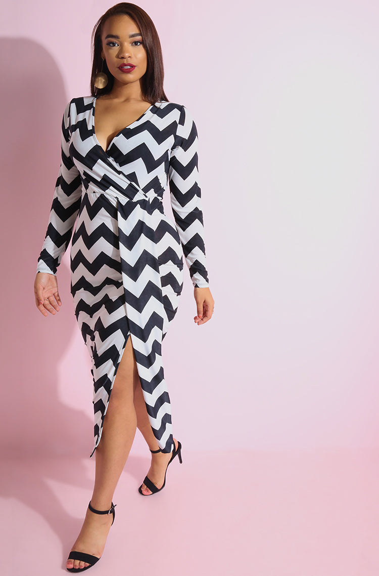 Black Front Train Maxi Dress plus sizes