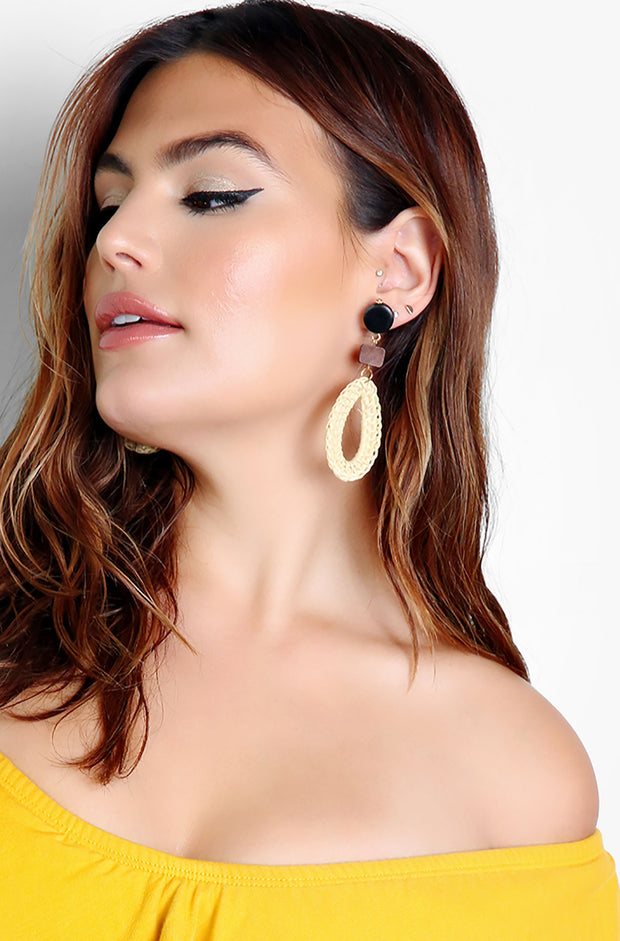 "Unbranded. ""Vacay with Me"" Bamboo Wooden Earrings"