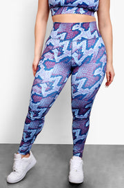 Blue High Waist Leggings