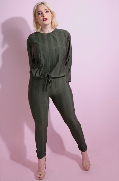 Olive Spandex Semi Sheer High Waist Leggings plus sizes