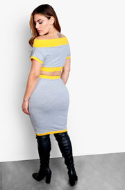 Gray Bodycon Mini Skirt