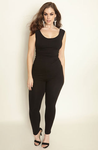 "Rebdolls ""Daring"" Sleeveless Plunge Neck Jumpsuit - Final Sale Clearance"