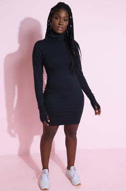 "Rebdolls ""Good Form"" Turtleneck Bodycon Mini Dress"