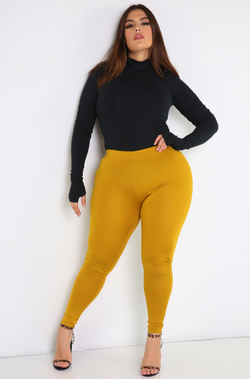 Mustard Leggings Plus Sizes