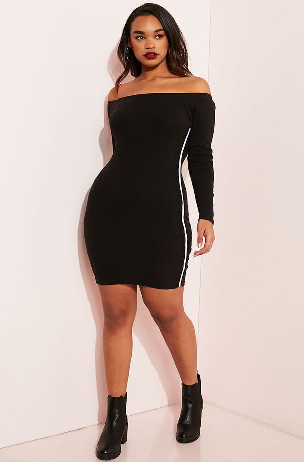 "Rebdolls ""Good Liar"" Over The Shoulder Bodycon Mini Dress"