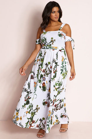 "Rebdolls ""My Other Half"" Front Slit Maxi Gown"