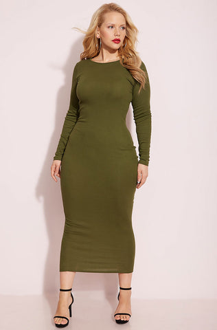 "Rebdolls ""Don't Make Me Wait"" Turtleneck Midi Dress- Burgundy"