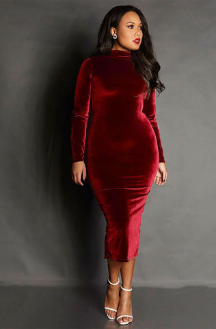 "Rebdolls ""The DM"" Sheer Long Sleeve Midi Dress FINAL SALE"