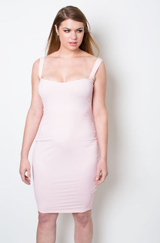 "Rebdolls ""Not That Attached"" Shoulder & Neck Detail Dress - FINAL SALE CLEARANCE"