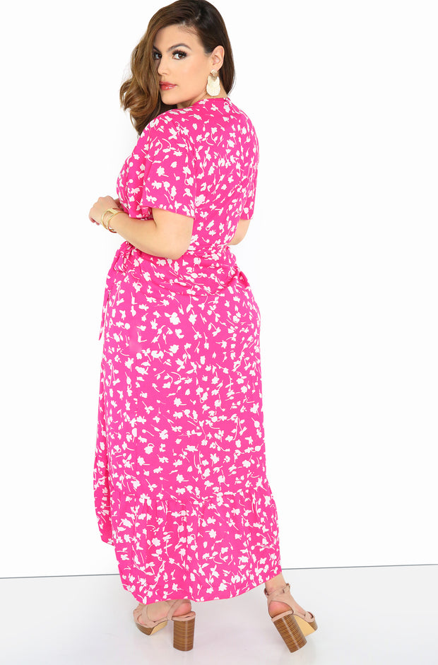 "Rebdolls ""Guidance"" Floral Wrap Maxi Dress"