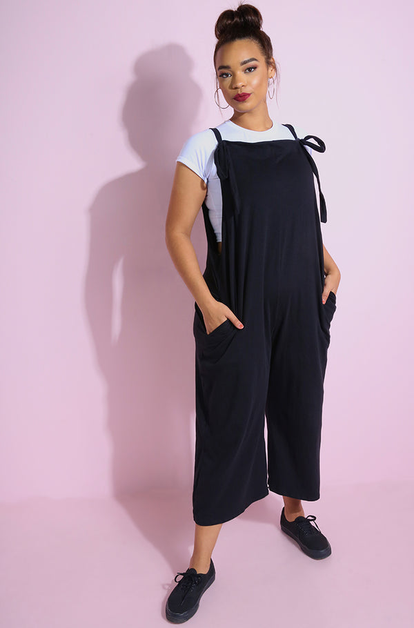 Black Oversized Casual Jumper With Pockets Korean Plus sizes