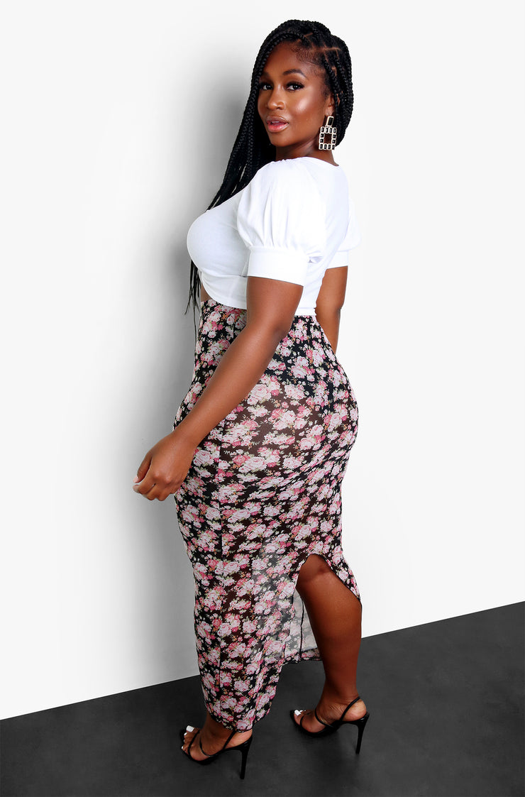 White Tie Front Ruched Crop Top Plus Sizes