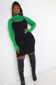 Black Strappy Bodycon Mini Dress Plus Sizes
