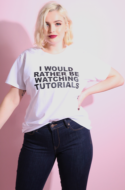 "Rebdolls ""I Would Rather…"" Crew Neck Short Sleeve  T-Shirt"