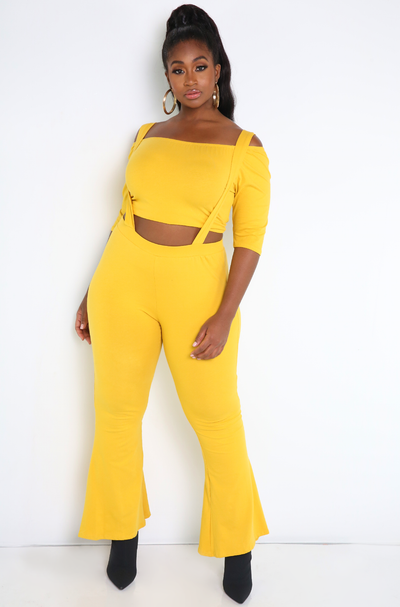 "Rebdolls ""If I Could"" Over The Shoulder Crop Top- FINAL SALE"