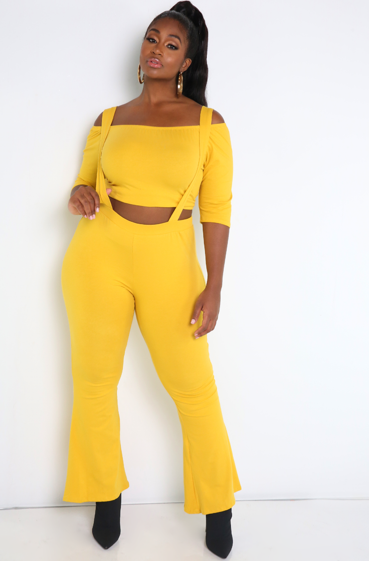 "Rebdolls ""If I Could"" Bell Bottom Overall Leggings- FINAL SALE"