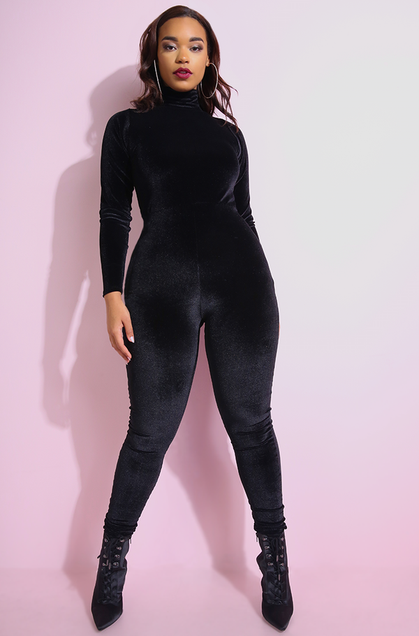 "Rebdolls ""I'm The Show"" Velvet Jumpsuit"