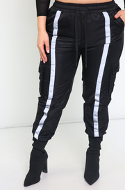 Black Wind Breaker Joggers Plus Sizes