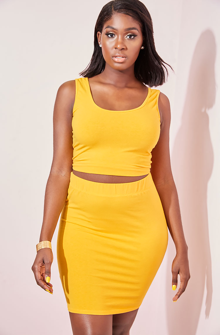 Golden Yellow Tank Top plus sizes