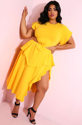 "Rebdolls ""Give It A Try"" Oversized T-Shirt Dress"