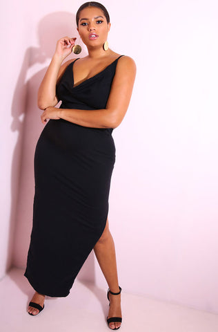 "Rebdolls ""Coming Out Strong"" High Slit Maxi Skirt FINAL SALE"