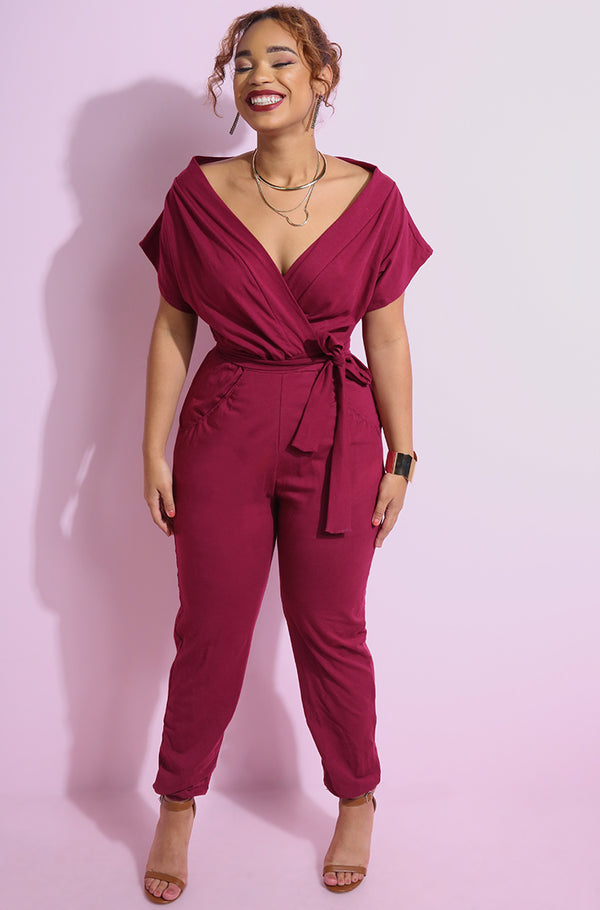 "Rebdolls ""In Reality"" Over The Shoulder Jumpsuit"