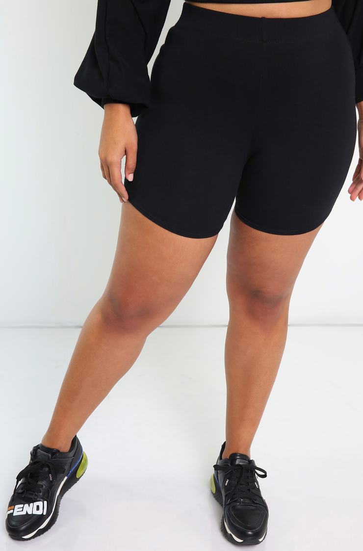 Black Oversized Over The Shoulder Top Plus sizes