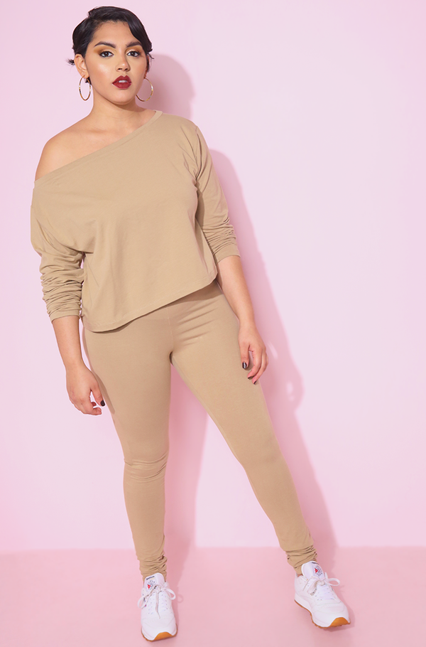 Nude High Waist Leggings Plus Sizes