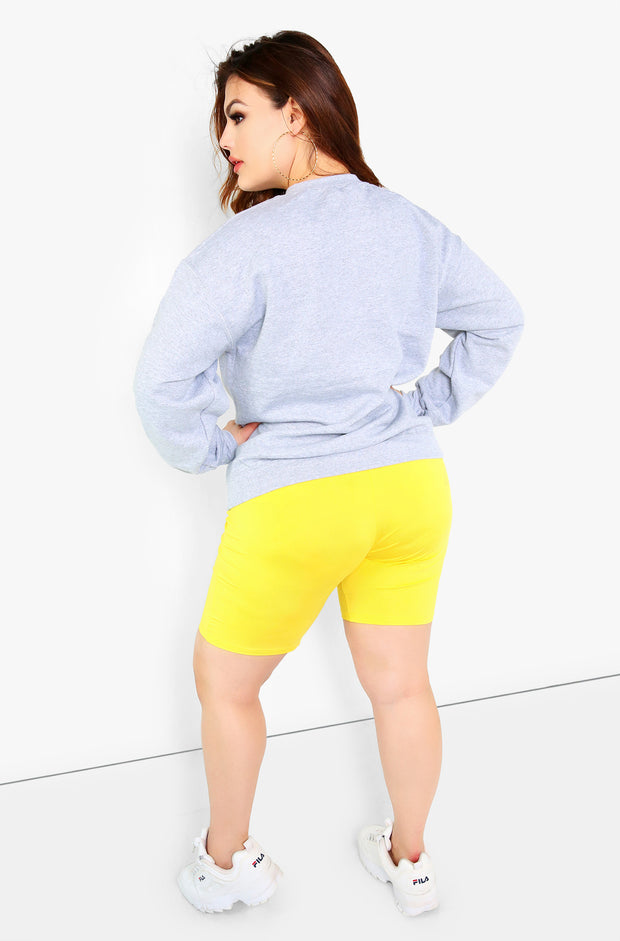 Grey Graphic Sweatshirt Plus Size