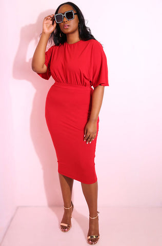 "Rebdolls ""You Don't Own Me"" Midi Skirt"