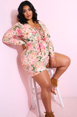 Pink Caged Jumper plus sizes