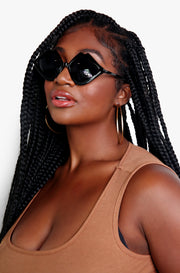 Black Lip Framed Sunglasses Sunglasses
