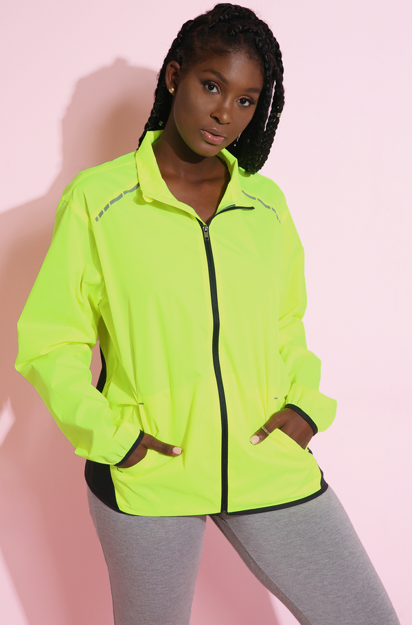 Reflective Light Weight Jacket Plus Sizes