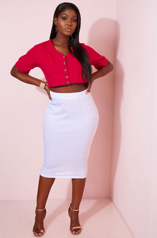 "Rebdolls ""Foolish"" Mermaid Hem Midi Skirt"