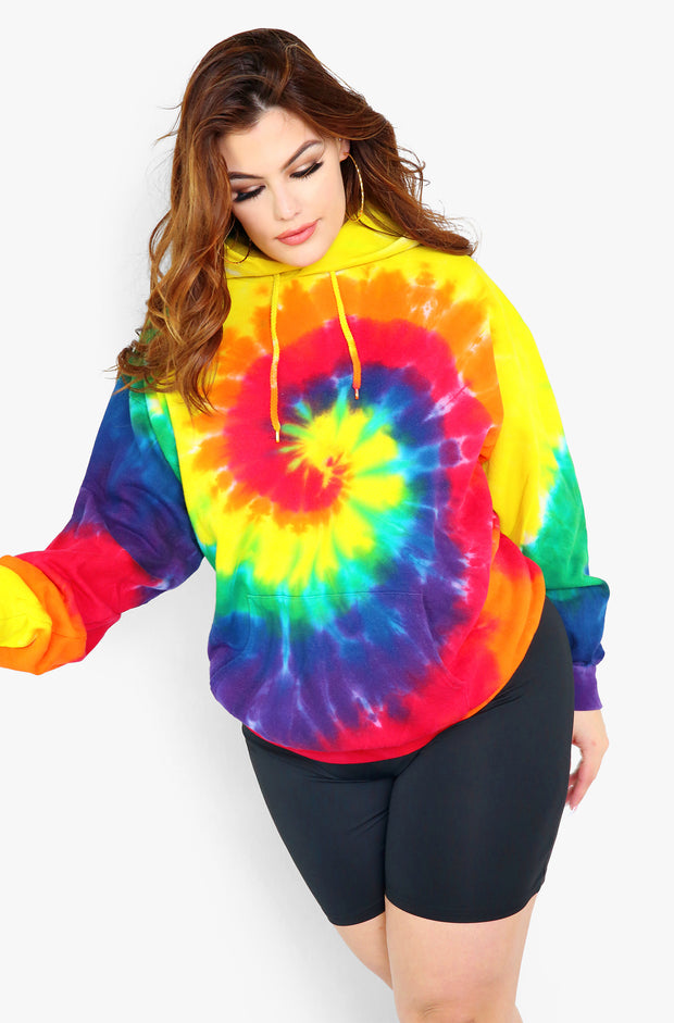 Tie Dye Hoodie Plus Sizes