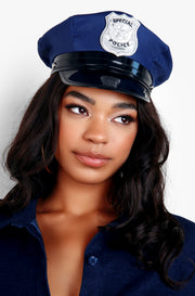 Blue Police Officer Hat