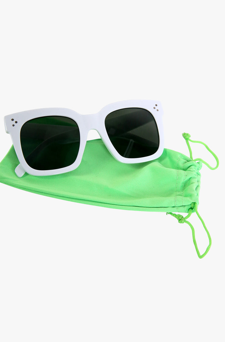 Neon Green Sunglasses Pouch