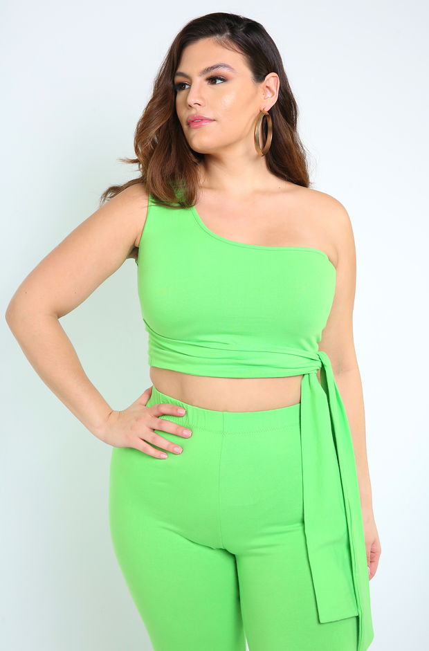 "Rebdolls ""London"" One Shoulder Crop Top"