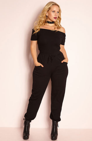 Rebdolls Light-Weight Ribbed Cut-Out Jumpsuit - FINAL SALE CLEARANCE