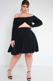 "Rebdolls ""Love Struck"" Cut-Out Skater Mini Dress With Pockets"