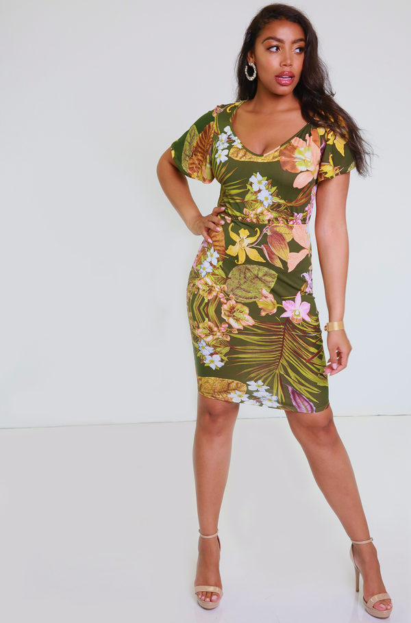 "Rebdolls ""Love You Better"" Ruffled Sleeves Mini Dress"