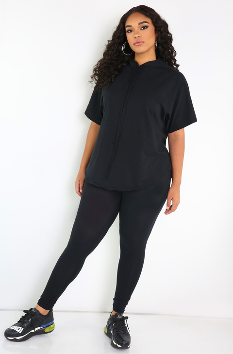 Black High Waisted Leggings Plus Sizes
