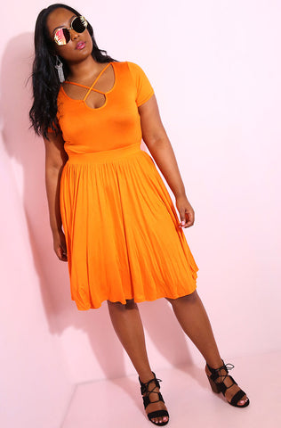 "Rebdolls ""Speaking Out"" Skater Midi Dress"