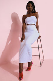 White Bodycon Maxi Skirt plus Sizes