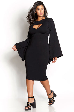 "Rebdolls ""Crack The Code"" Over The Shoulder Shift Dress"