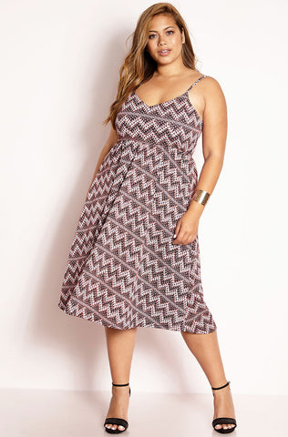 "Rebdolls ""Photographs"" Cross Over Maxi Dress With Pockets"