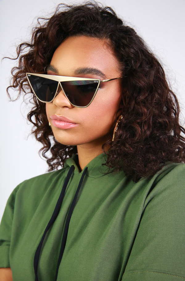 Gold Metal Statement Sunglasses