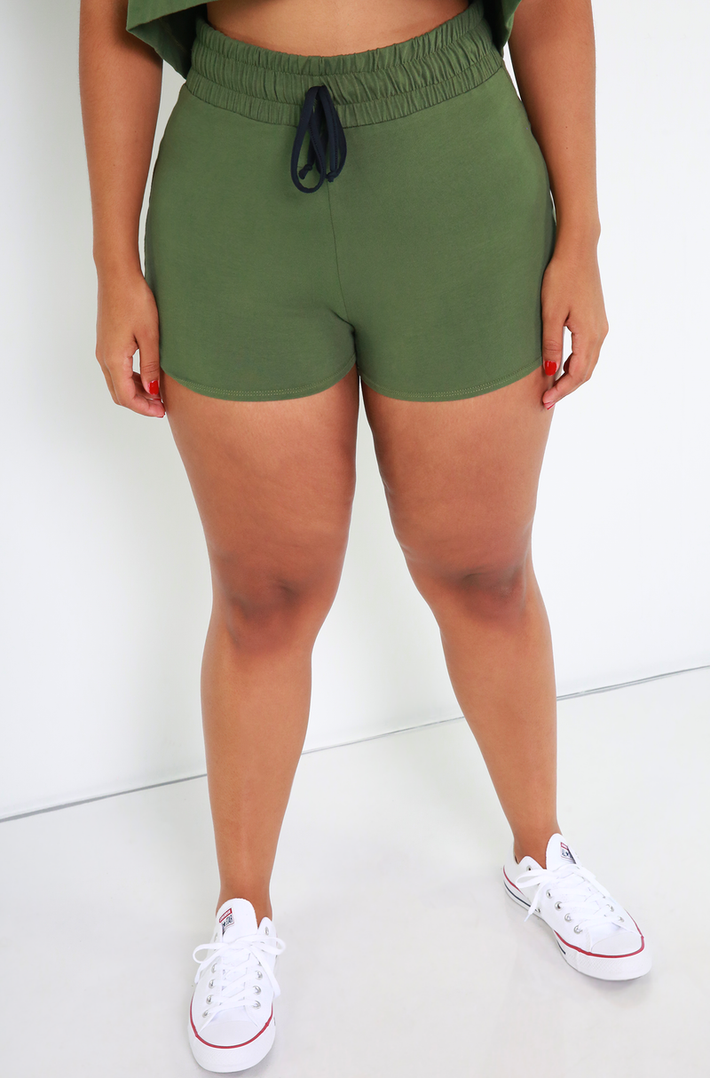 "Rebdolls ""Margin Of Error"" Drawstring Booty Shorts"